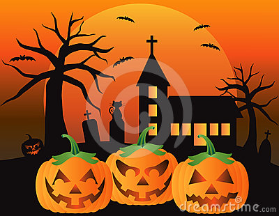 Halloween Jack O Lantern Pumpkins Illustration