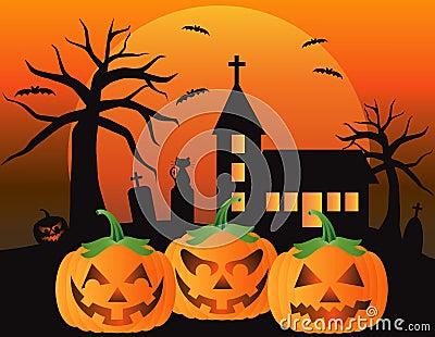 Halloween Jack O Lantern Pumpkins Illustration