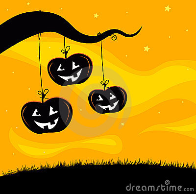 Halloween Jack O Lantern Tree background
