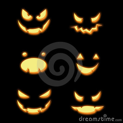 halloween k rbisgesichter stockfotografie. Black Bedroom Furniture Sets. Home Design Ideas