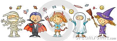 Halloween kids Vector Illustration