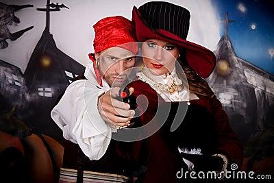 Halloween lady pirate