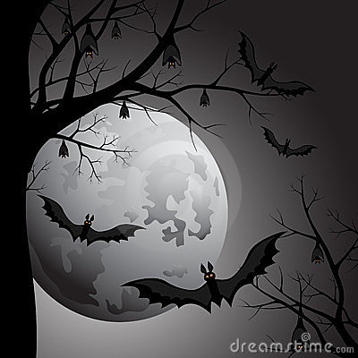 Halloween Luna At Night Royalty Free Stock Image - Image: 23772296
