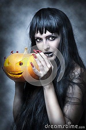 Free Halloween Makeup. Sexy Woman Royalty Free Stock Image - 21494206