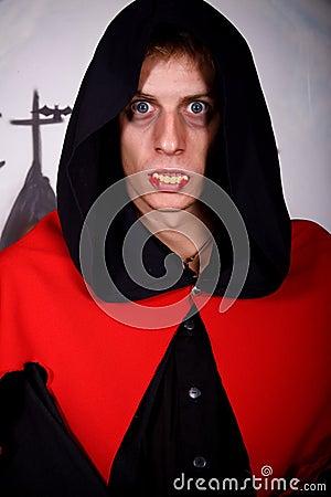 Halloween man vampire