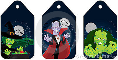 Halloween monsters tags