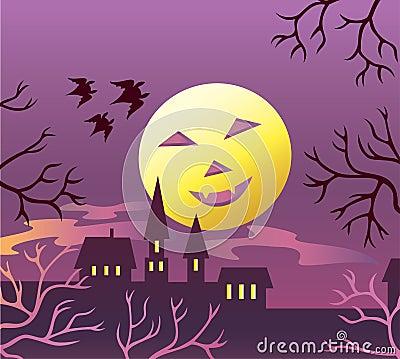 Halloween moon.