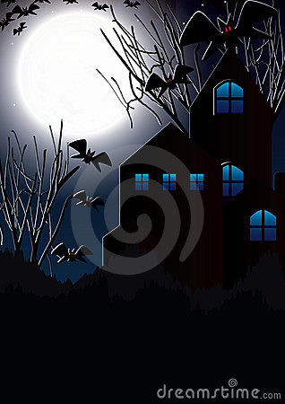 Halloween Moon Bat House_eps