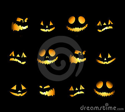 Free Halloween Night Background, Pumpkins Royalty Free Stock Photography - 10658117