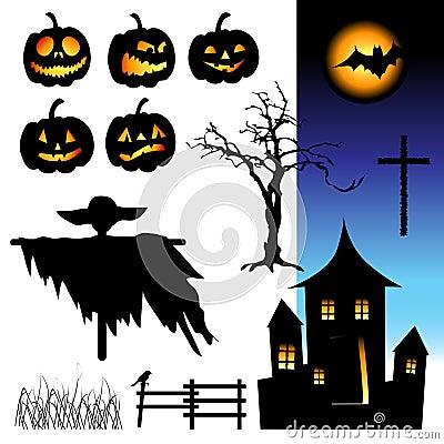 Free Halloween Night, Elements Royalty Free Stock Image - 6454426