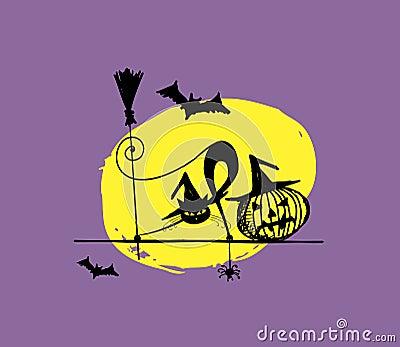 Halloween night illustration for your design