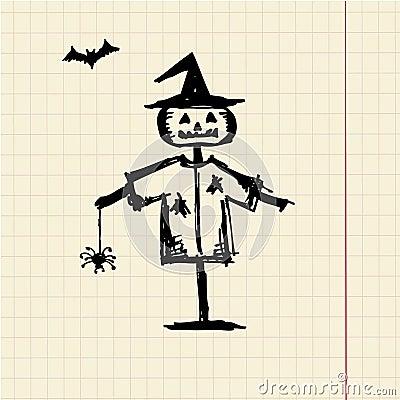 Halloween night symbol