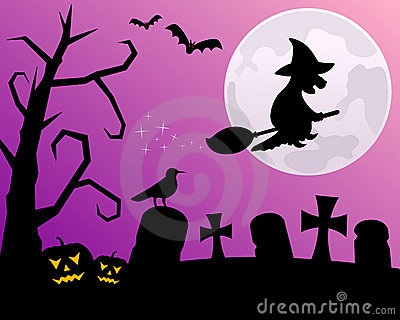 Halloween Night with Witch