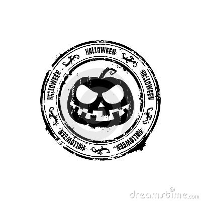 Halloween om rubberzegel