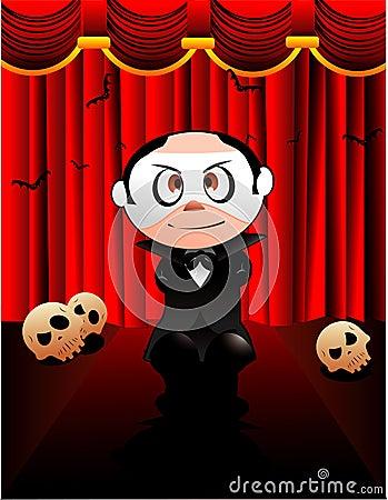 Halloween opera phantom vector