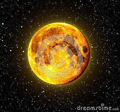 Free Halloween Orange Full Moon Royalty Free Stock Image - 11524656
