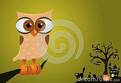 Halloween Owl Background