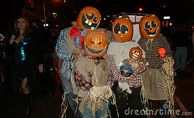 Halloween Parade in New York City Editorial Stock Image