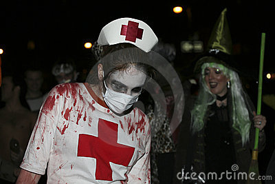 Halloween parade NYC 5350 Editorial Photography