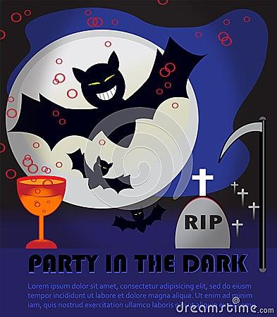 Halloween party in the dark