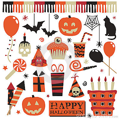 Free Halloween Party Elements Stock Image - 11125501