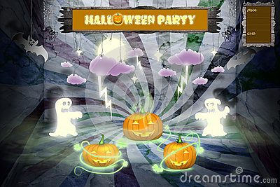 Halloween party invitation with space for text