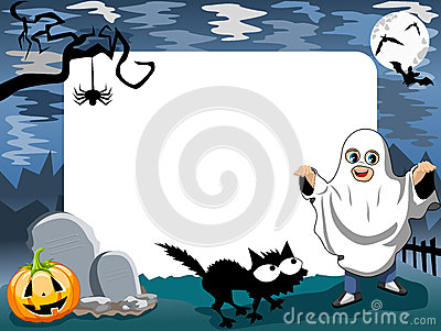 Halloween Photo Frame Phantom