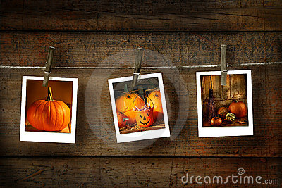 Halloween photos on wood