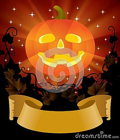 Halloween placard