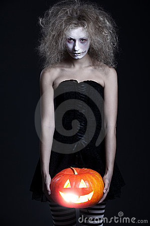 Free Halloween Portrait Of Ghost Royalty Free Stock Photography - 16278077