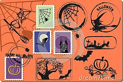 Halloween postage set