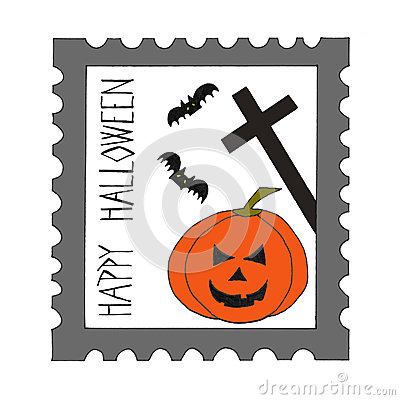Halloween postage stamp.