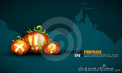 Halloween Poster   Objects Separated on layers nam