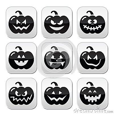 Halloween pumkin  buttons set