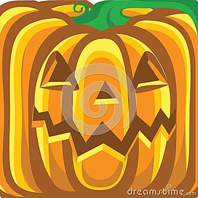 Halloween pumpkin background.Vector orange illustr