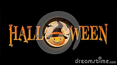 Halloween Pumpkin banner Vector Illustration