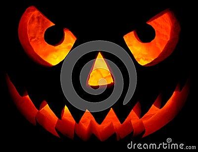Halloween Pumpkin On Black Stock Photos - Image: 11242083