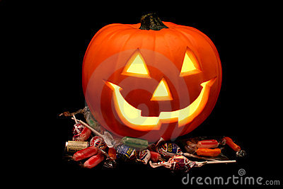 Halloween Pumpkin with Candy