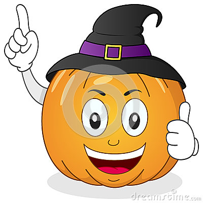 Halloween Pumpkin Character with Hat
