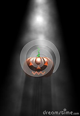 Halloween pumpkin, in fog