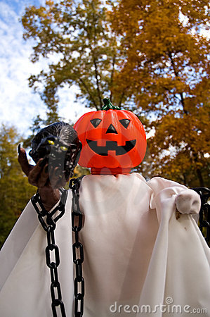 Halloween Pumpkin Head Ghost-2