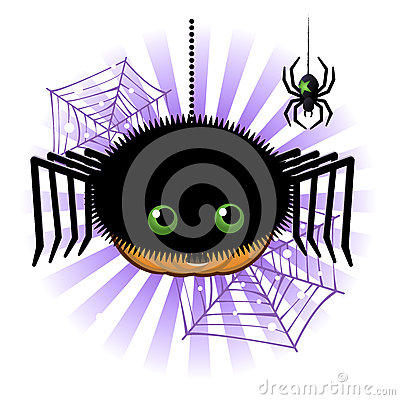 Halloween pumpkin Jack o lantern in spider costume