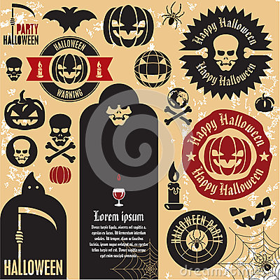 Halloween pumpkin labels
