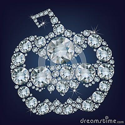 Halloween Pumpkin made up a lot of diamonds