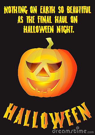 Halloween pumpkin poster design