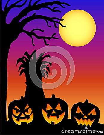 Halloween Pumpkin Silhouette/e