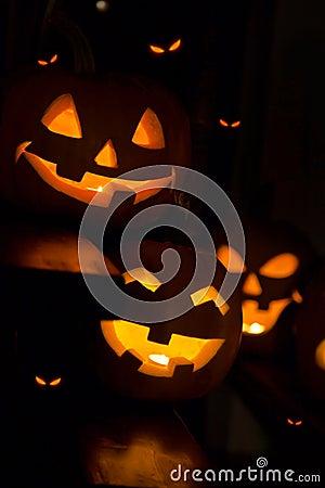 Free Halloween Pumpkins Stock Photography - 21291742