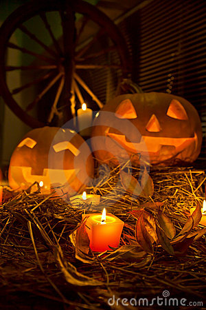 Free Halloween Pumpkins Royalty Free Stock Photos - 21291778