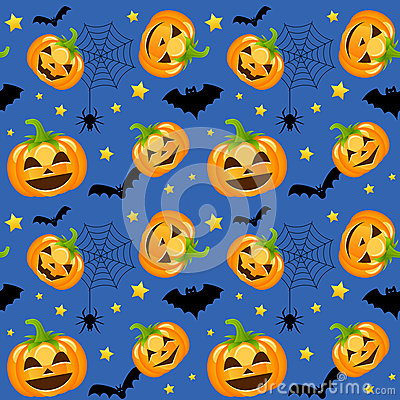 Free Halloween Pumpkins Seamless Royalty Free Stock Photography - 34542427