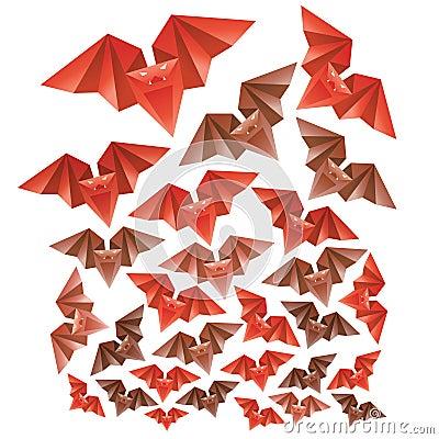 Halloween s origami bats